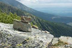 Stone balance pyramid. From Slovakia, Solisko Royalty Free Stock Images