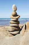 Stone balancing Royalty Free Stock Images