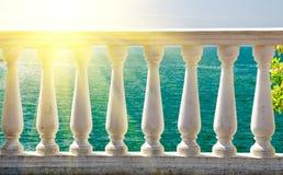 Stone balcony Royalty Free Stock Photo