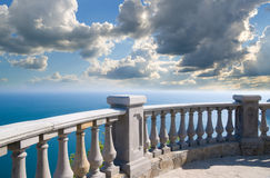 Stone balcony Royalty Free Stock Images