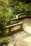 Stone balcony in a green park Royalty Free Stock Photography