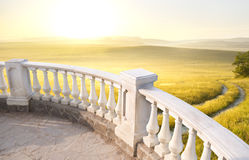 Stone balcony Stock Images