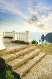Stone balcony Royalty Free Stock Image