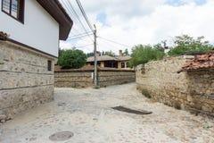 Stone Balkan architecture in Koprivshtitsa in Bulgaria Royalty Free Stock Images