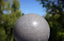 Stone ball. Architectural detail large ball background Stock Images