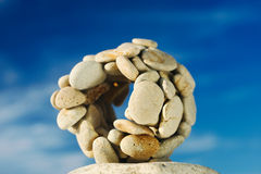 Stone Ball. Is on the sea cliff Stock Image