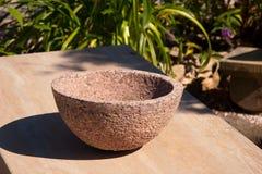 Stone ball in the garden Stock Photography