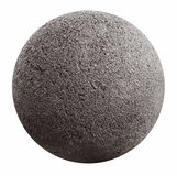 Stone ball. On the surface pores with a white background Royalty Free Stock Image