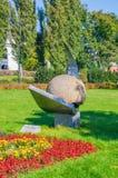 Stone ball in Torun. stock photos
