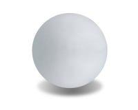 Stone ball. White stone ball on isolated white background Stock Photos