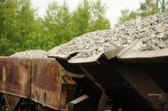 Stone ballast Stock Photo