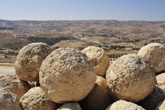 Stone balls in Herodium. Stock Images