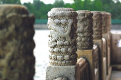 Stone baluster. The  stone baluster in the Temple of Heaven Royalty Free Stock Photos