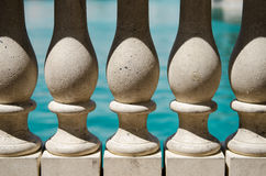 Stone balusters Royalty Free Stock Images