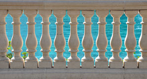 Stone Balustrade. By the water Royalty Free Stock Image