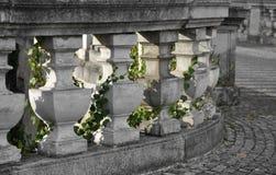 Stone balustrade. A curved decorative gray stone balustrade Stock Photos