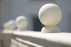 Stone balustrade Stock Image