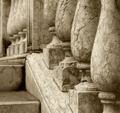 Stone balustrade detail Stock Photography