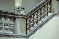 Stone balustrade of parapet Stock Images