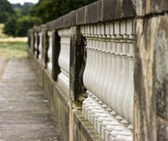 Stone balustrade pillars. Stock Image