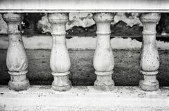 Stone bannister. Image of a row of white bannister pillars made of stone royalty free stock images