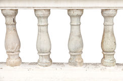 Stone bannister pillars. Image of a row of white bannister pillars made of stone royalty free stock photography