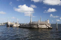 Stone barge at the Vizcaya Museum and Gardens Stock Photos
