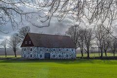 Stone Barn Backlit stock images