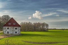 Stone Barn Landscape stock image
