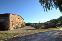 Stone barn located in Klein Kiesow, Germany Stock Photo