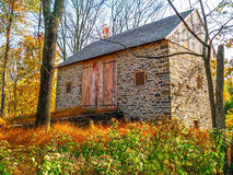 Stone Barn in Meadow Royalty Free Stock Photos
