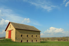 Stone barn, rural Nebraska Stock Photos