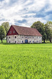 Stone barn in Skane Royalty Free Stock Photos