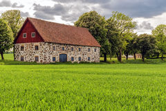 Stone barn in Sweden Royalty Free Stock Image