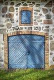Stone Barn Wooden Doors stock photography