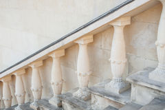 Stone baroque baluster and staircase Stock Photos