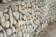 Stone barrier Royalty Free Stock Image