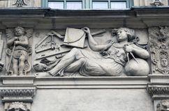Stone bas-reliefs of Gdansk royalty free stock photos