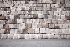 Stone base of the old Imperial Palace at location chiyoda japan. Stock Photos