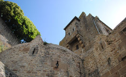 Stone bastion against the clear sky Stock Photography
