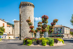 Stone Bastions in Sisteron Royalty Free Stock Photos