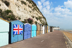 Stone Bay Beach Huts Royalty Free Stock Photography