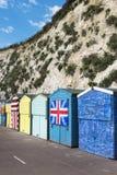 Stone Bay Beach Huts Royalty Free Stock Photos
