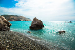 Stone in the bay of the Mediterranean. Cyprus. Birthplace of Aph Royalty Free Stock Photos