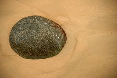 Stone in Beach Stock Image