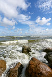 Stone on the beach. Baltic sea Royalty Free Stock Image