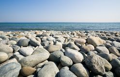 Stone beach Stock Image