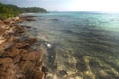 Stone beach. Stock Photos