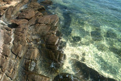 Stone beach. Royalty Free Stock Images