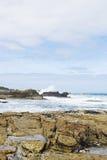 Stone beach of Atlantic ocean in Costa da Morte Stock Images